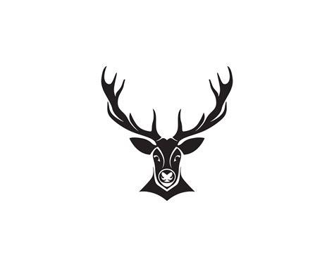 deer head vector logo black   vectors