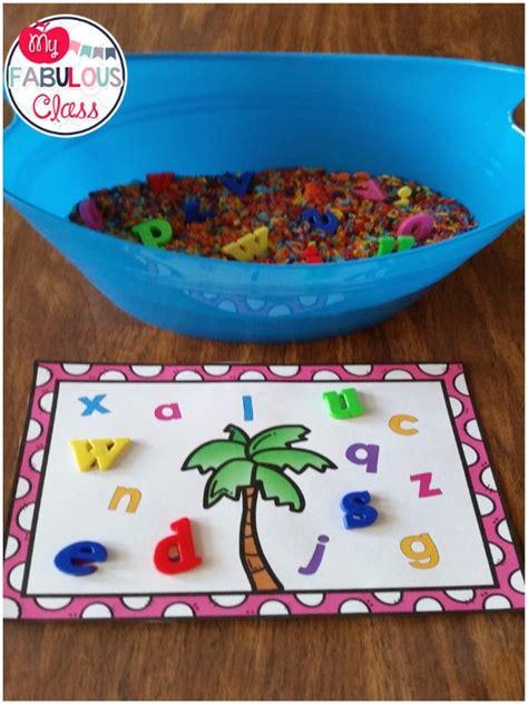 free chicka chicka boom boom letter mats and sensory tubs teaching prek literacy chicka