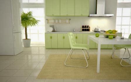 cat dinding dapur hijau rumah idolaku