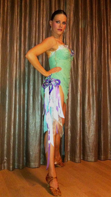 mint green purple latin dance costume  sale dreamgown