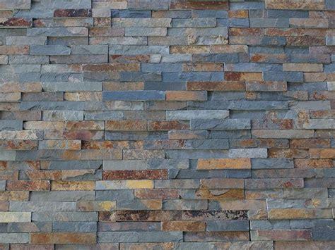 multi colour slate split mosaic tile rock panels 3d