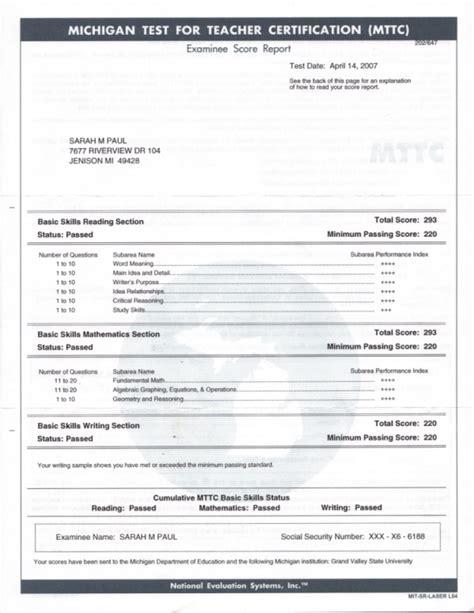Resume Scanner Test by Credentials Portfolio Of M Paul