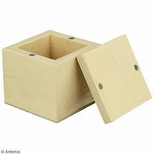 Petite Boite En Bois : petite bo te carr e en bois d corer 5 x 5 x 5 cm boite en bois d corer creavea ~ Teatrodelosmanantiales.com Idées de Décoration