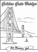 Pages Bridge Coloring Gate Golden Printable Crayola Colouring Drawing Sheets Landmarks Print San Francisco Famous Adult Construction Books Theme Garden sketch template