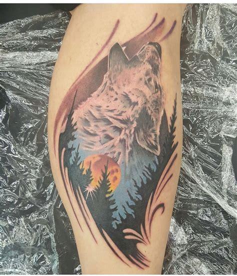 beautiful howling wolf tattoo venice tattoo art designs