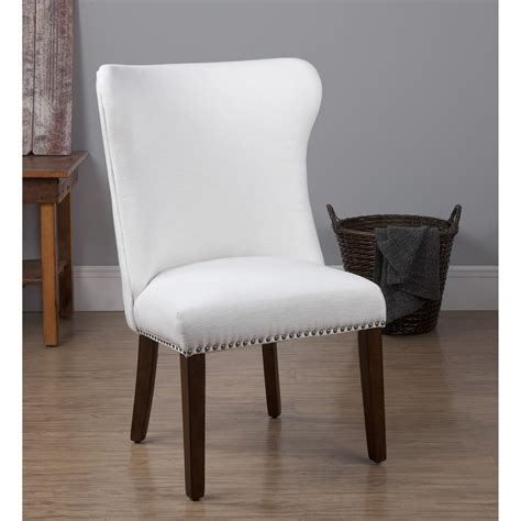 dorel home furnishings bailey white accent chair with
