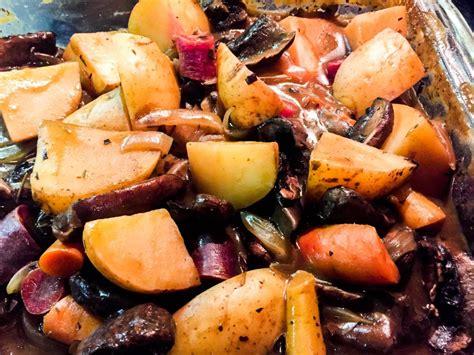 vegan pot roast  portobello potatoes  carrots