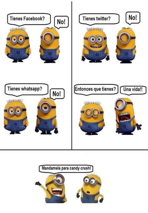 Memes De Los Minions En Espaã Ol - redes sociales minion memes divertidos en espa 241 ol pinterest videos and minions