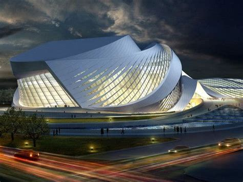 New Century City Art Centre, Chengdu, Futuristic Concept