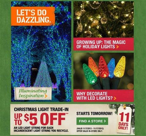 home depot christmas lights home depot christmas light trade in up to 5 off led lights