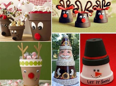 christmas diy ideas diy christmas decorations made using terracotta pots find fun art projects to do at home and
