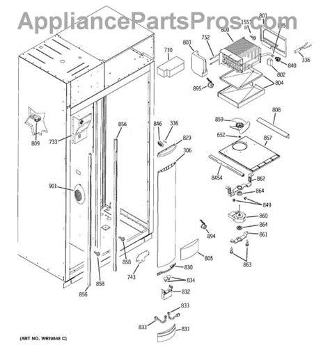 parts  ge zisbdrj freezer section parts appliancepartsproscom