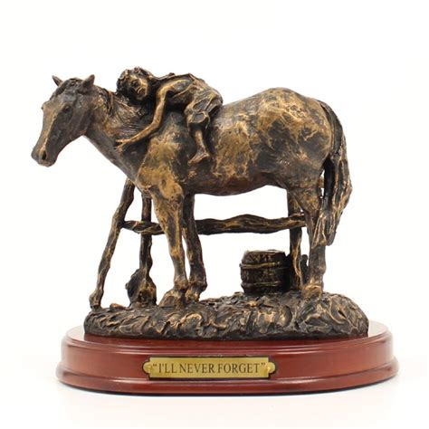 """Mf59110 Western Moments Statue  """"i`ll Never Forget"""""""