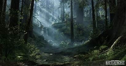 Endor Battlefront Swamp Crash Site Wars Star