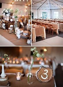 Tischdeko Mit Holz : geerdet tischdeko mit baumwolle und holz fr ulein k sagt ja hochzeitsblog ~ Eleganceandgraceweddings.com Haus und Dekorationen
