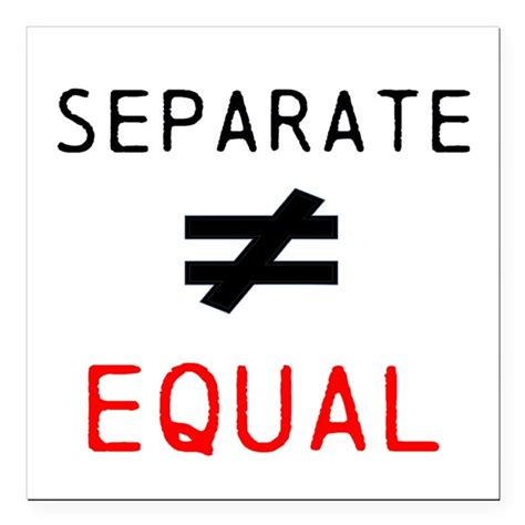 not equal sign iphone separate is not equal square car magnet 3 quot x 3 quot by