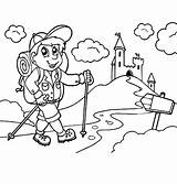 Camping Coloring Backpack Pages Going Little Kid Castle Netart sketch template
