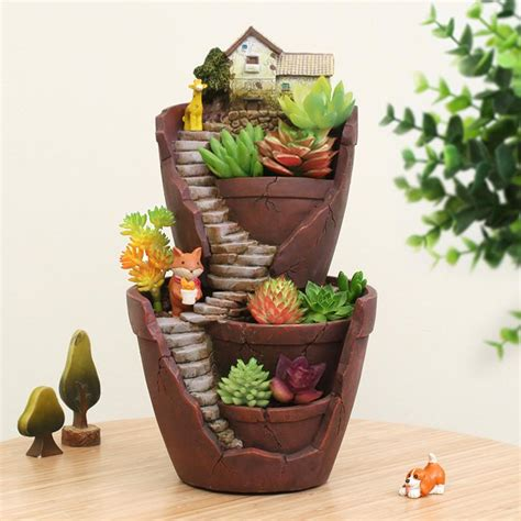 Garden Decoration Pots by Creative Resin Flower Pot For Succulent Plants Micro