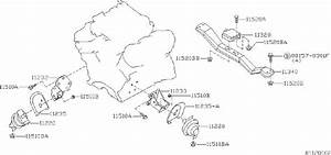 Nissan Xterra Transmission Crossmember  Rear   Engine