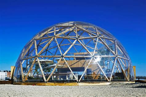 Nordic home encased within geodesic dome for passive solar ...
