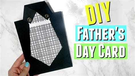 diy easy fathers day shirt  tie card diy handmade