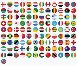 Country Flag Icons Circle