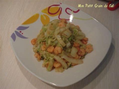 chinois fin cuisine poêlée de choux chinois aux crevettes sauce soja sucre