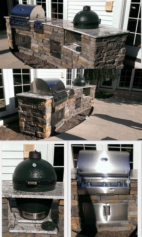 green egg built in outdoor kitchen custom outdoor kitchen with firemagic gas grill and big 8351