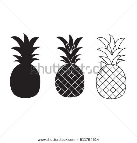 pineapple outline vector outline pineapple stock images royalty free images