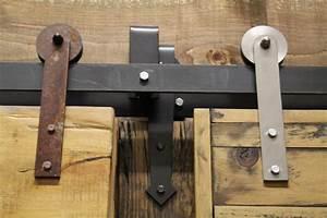 rebarns full bypass barn door hardware rebarn toronto With bi pass door hardware