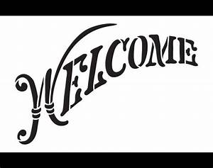 welcome word stencil elegant country arched 14 x With country letter stencils