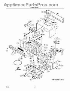 Parts For Frigidaire Fmv156dsb  Oven    Cabinet Parts