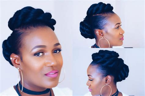 Twisted Updo On Short Natural Hair