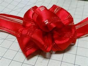 easy bow using wire edge ribbon instructional youtube