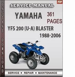 Yamaha Yfs 200  U-a  Blaster 1988-2006 Factory Service Repair Manual Download