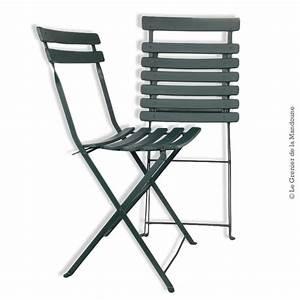 Chaise Pliante De Jardin : 2 anciennes chaises pliantes de jardin bois et fer ~ Teatrodelosmanantiales.com Idées de Décoration
