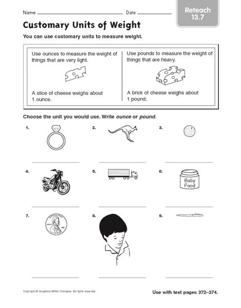 number names worksheets 187 weight measurement worksheets