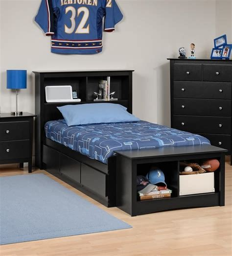 Size Bed With Bookcase Headboard by Platform Storage Bed W Bookcase Headboard Bed Size