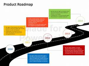 Product roadmap powerpoint template editable ppt for Road map powerpoint template free