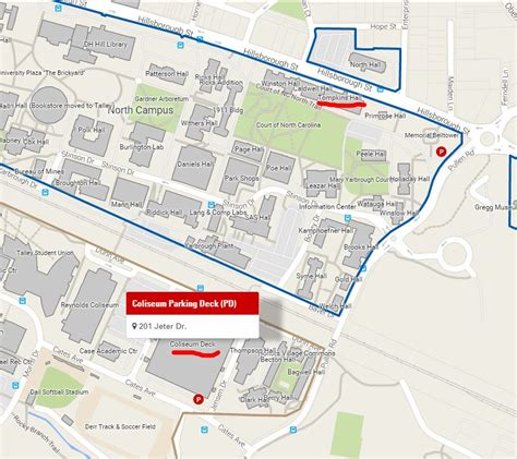 Directions To Nittany Parking Deck by How To Find Us Location Department Of Nc State