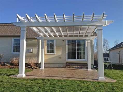 syracuse vinyl pergola installation poly enterprises