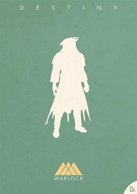 Destiny Minimalist Poster Warlock Dennis Au