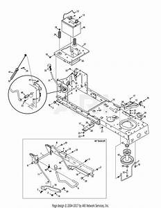 Troy Bilt 13yx79kt211 Horse Xp  2014  Parts Diagram For Frame  U0026 Pto Lift