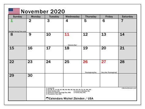 november  calendar usa michel zbinden en