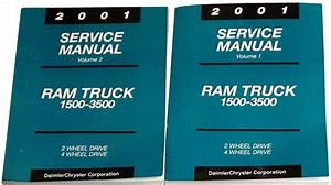 2001 Dodge Ram Truck Factory Service Manual Set 1500 2500