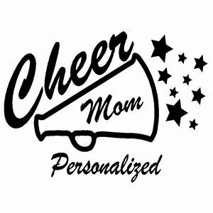 cheer mom megaphone sticker With vinyl letters for megaphones