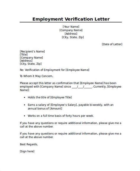 proper sle employment verification letter letter
