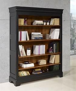 Meuble Bois Et Noir : biblioth que en merisier massif de style louis philippe ~ Dailycaller-alerts.com Idées de Décoration