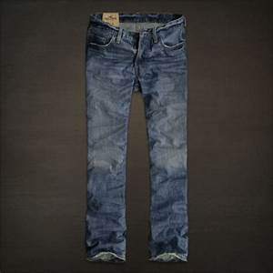 HOLLISTER Mens Balboa Classic Straight Jeans Trousers ...