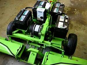 Wide Electric Lawn Mower  Battery Operated  El Toro 58
